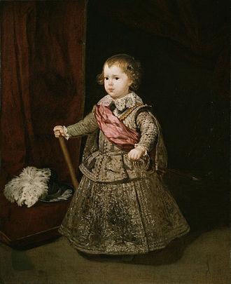 Balthasar Charles, Prince of Asturias - Image: Retrato del príncipe Baltasar Carlos, por Diego Velázquez