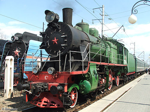 Locomotive issue de l'usine Louganskteplovoz (Лугансктепловоз) de Lougansk.