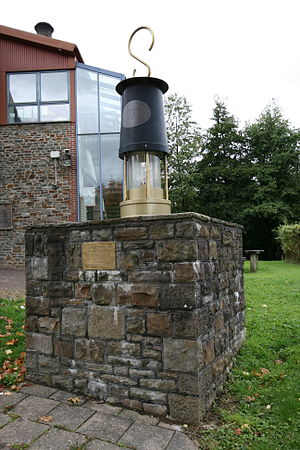 South Wales Coalfield - Mining memorial at Rhondda Heritage Park