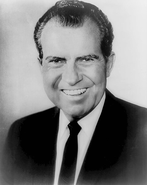 Richard Nixon, official bw photo, head and shoulders