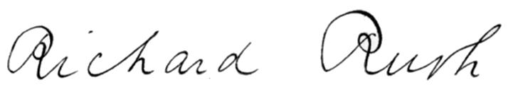 Richard Rush's signature