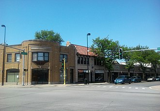 Homewood, Illinois - Image: Ridge Road in Downtown Homewood
