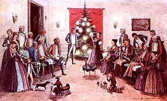 Frederika Charlotte Riedesel - General and Mrs. Riedesel celebrated Christmas 1781 in Canada, and are credited with popularizing the German traditional Christmas Tree in the Americas.