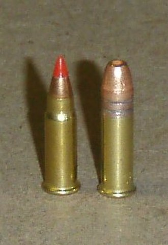 .17 HM2 - Left: .17HM2, right: .22 LR