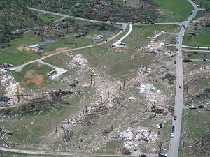 Ringgold, Georgia - Houses in Ringgold destroyed by an EF4 tornado