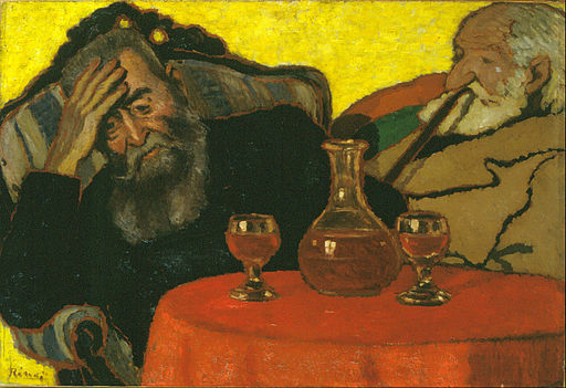 Rippl-Rónai, József - My Father and Piacsek, with Red Wine - Google Art Project