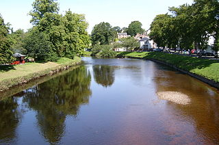 River Eden, Cumbria river that flows through the Eden District of Cumbria, England