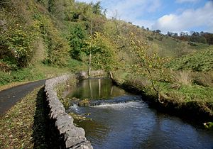Dovedale - The River Dove at Milldale