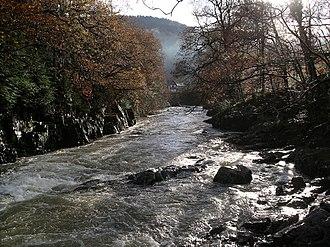 River Llugwy - River Llugwy upstream of Betws-y-Coed
