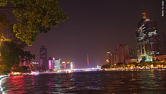Pearl River (China) - River Pearl and Canton Tower