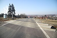 Road 392 near Dukovany, Třebíč District.jpg