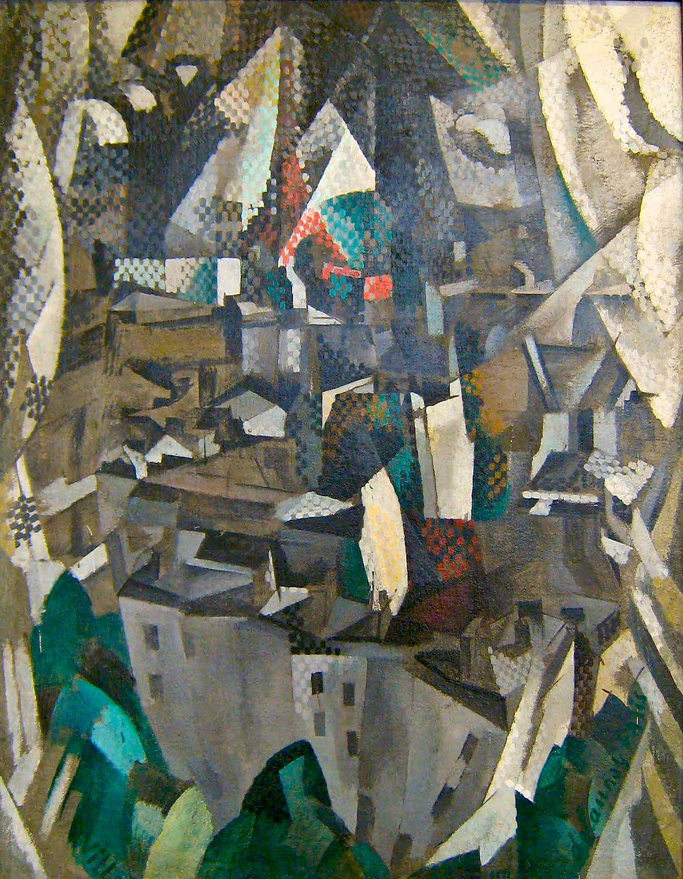 Robert Delaunay, 1910, La ville no. 2, oil on canvas, 146 x 114 cm, Musée National d'Art Moderne, Centre Georges Pompidou, Paris