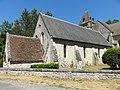 Roberval (60), église Saint-Remy, nef, élévation sud 2.JPG