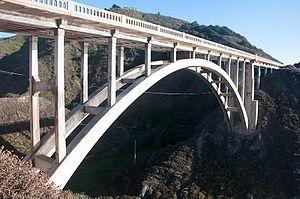 Rocky Creek Bridge (California) - Image: Rocky Creek Bridge only