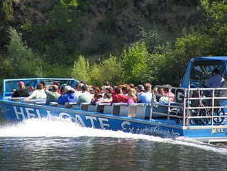 Jetboat -  Jetboat on the Rogue River by Grants Pass, Oregon.