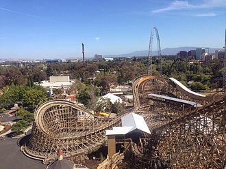 California's Great America - Gold Striker Roller Coaster at Great America