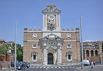 Porta Pia - The internal façade of Porta Pia.