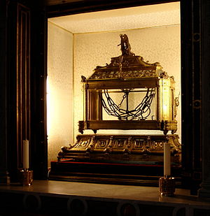 Saint Balbina - Reliquary containing the chains of St. Peter  in St. Peter in Chains in Rome, Italy