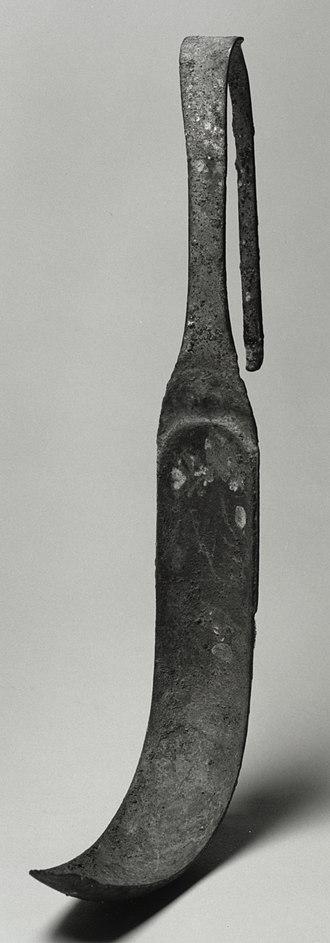Strigil - Bronze strigil (Roman, 1st century AD, Walters Art Museum