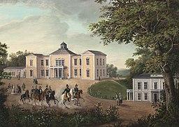 Rosendals slot i 1840'erne, af Axel Otto Mörner