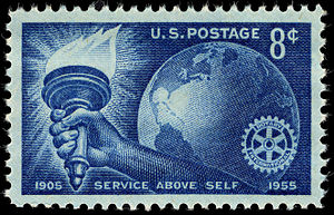 Rotary International - U.S. stamp commemorating Rotary International's 50th anniversary in 1955