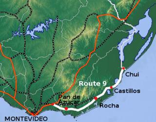 Route 9 (Uruguay) highway in Uruguay