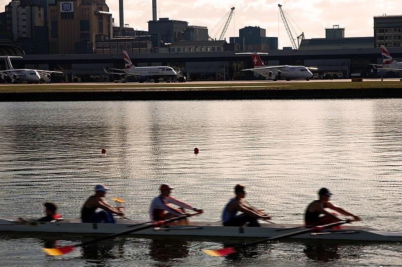 File:Rowers at City Airport London - panoramio.jpg