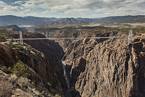 Royal Gorge Bridge - Image: Royal Gorge Bridge (looking west)