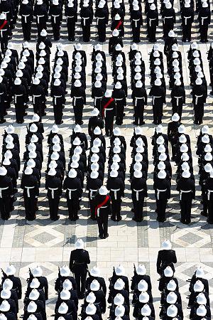 Pith helmet - Royal Marines 350th anniversary parade, 2014, Guildhall, London.