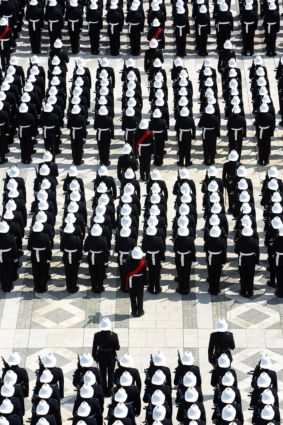 Royal Marines on Parade in the City of London MOD 45157923