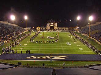 Rubber Bowl - An on-field ceremony at the Rubber Bowl after 324th and final Akron Zips football game on November 13, 2008.