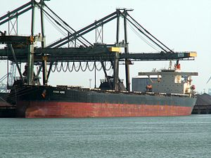 Rubin Hope - IMO 9187576 - Callsign 3FNO9 , Mississippi harbour, Port of Rotterdam, Holland 01-Jul-2006.jpg
