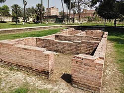 Ruins of Ancient city of Patliputra at Kumhrar .