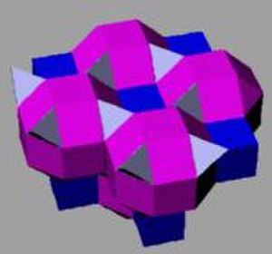 Convex uniform honeycomb - Image: Runcinated alternated cubic honeycomb