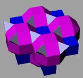 Convex uniform honeycomb - Image: Runcinated alternated cubic honeycomb