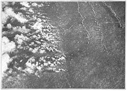 German gas attack on the eastern front.