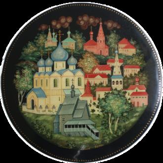 Russian lacquer art - Image: Russian lacquered box Suzdal