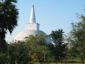 "Indo-Greek Kingdom - According to the Mahavamsa, the Great Stupa in Anuradhapura, Sri Lanka, was dedicated by a 30,000-strong ""Yona"" (Greek) delegation from ""Alexandria"" around 130 BC."