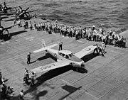 Ryan L-17 Navion on USS Leyte 1950