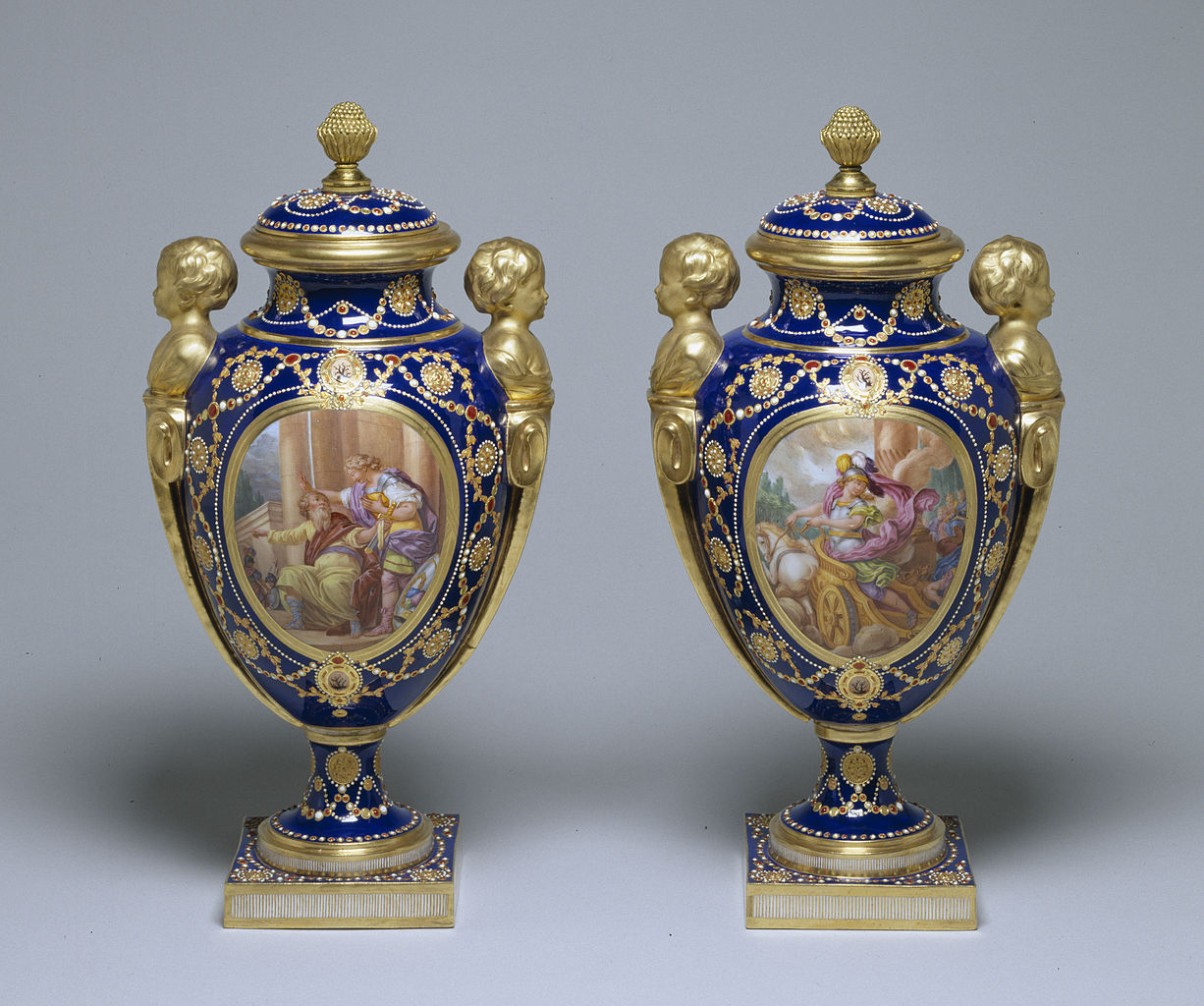 File S 232 Vres Porcelain Manufactory Pair Of Vases