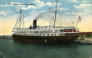 S.S. Virginia (American Great Lakes Passenger Liner, 1891)