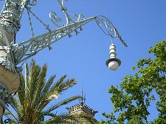 Passeig de Lluís Companys, Barcelona - Ornate lamppost on Passeig de Lluís Companys.