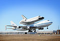 SCA and Endeavour takes off from NAS JRB, Fort Worth, 2008.jpg