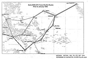 South Pacific air ferry route in World War II - South Pacific Air Force Routes, 1916–1942