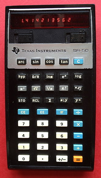 Binary logarithm - Image: SR 50 early TI calculator.agr
