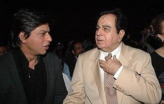 Dilip Kumar - Dilip Kumar with Shah Rukh Khan.