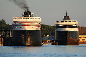 SS Spartan - Image: SS Badger and SS Spartan
