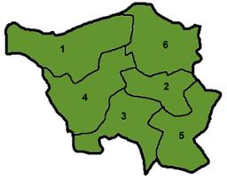 La administraj distriktoj de Sarlando