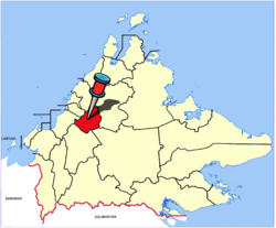 Location of Tambunan Town