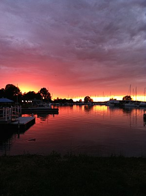 Sackets Harbor, New York - This image was taken in Sackets Harbor, NY looking out onto Lake Ontario.